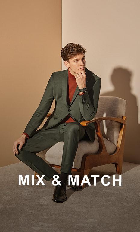Finden Sie den passenden Anzug bei Mix und Match