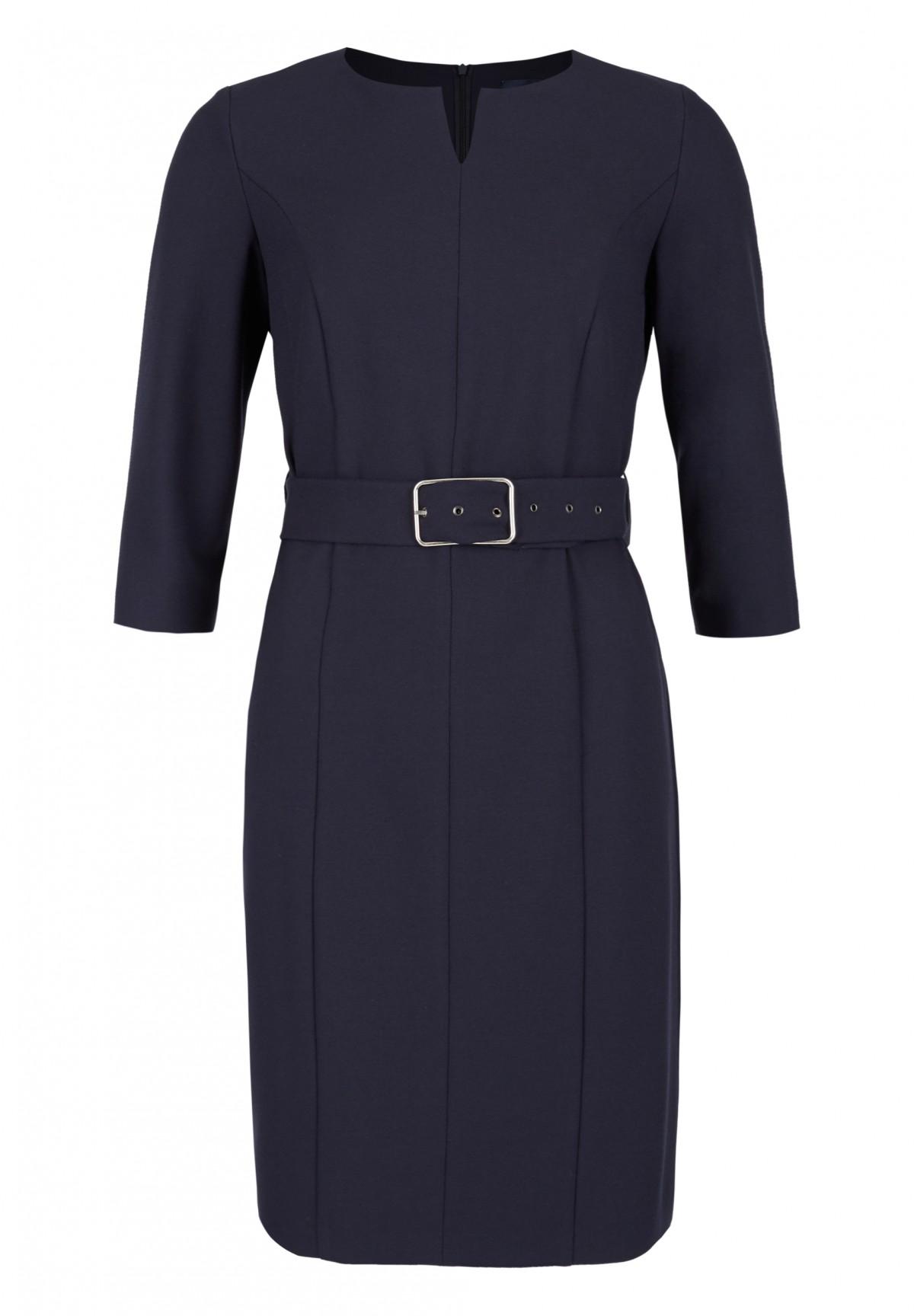 Elegantes Kleid mit Taillengürtel / Elegantes Kleid mit Taillengürtel