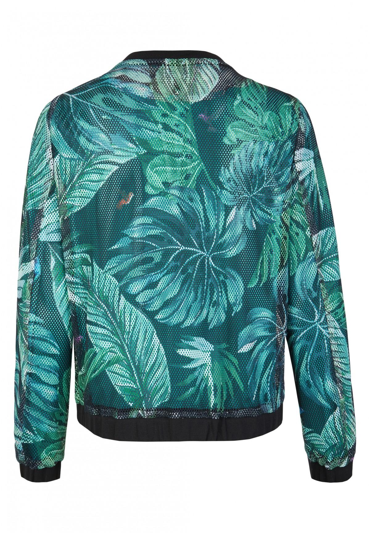 Trendige Jacke mit Palmenprint / Jacket