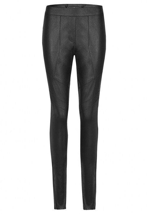 Fake Leather Pants, black