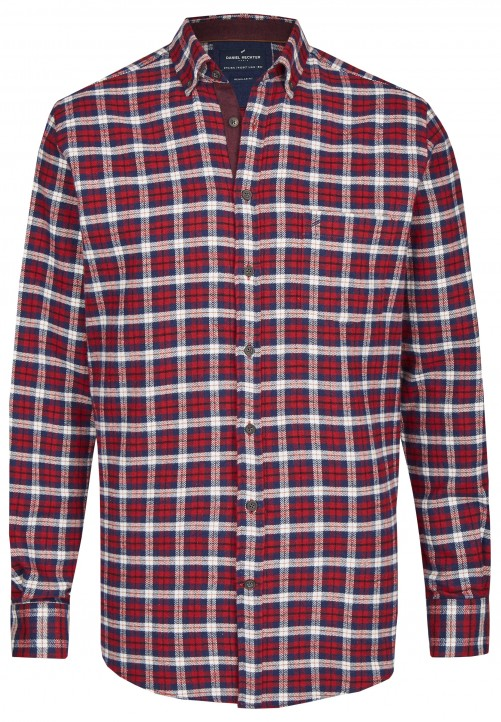 Karo Flanell-Hemd, dark red