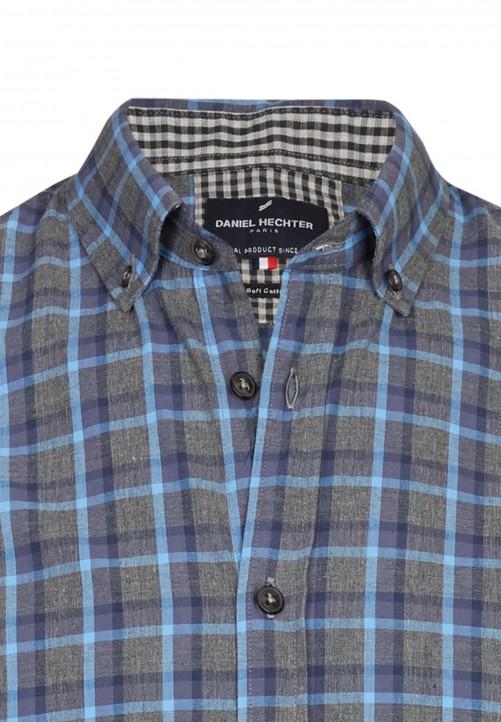 Freizeithemd mit Karo-Muster, blau