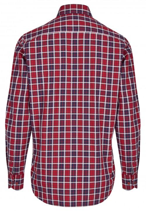 Freizeithemd in Karo-Muster, oxblood