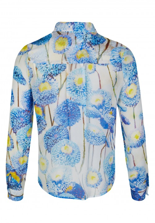 Blouse, cornflower