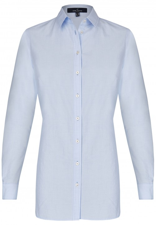 Modische Longbluse, light blue