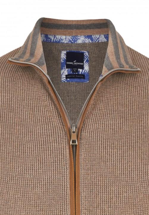 neue niedrigere Preise 50% Preis Bestbewertete Mode Strickjacke mit Reißverschluss, beige melange | Daniel Hechter Online Shop