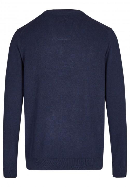 Essential-Pullover mit V-Ausschnitt, midnight blue
