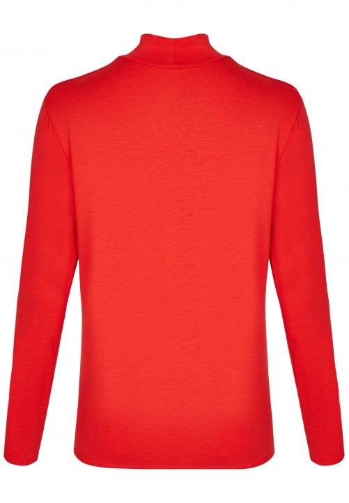 Modisches Turtelneck Shirt, chilli