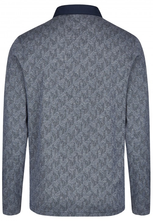 POLO LONGSLEEVE, steel blue