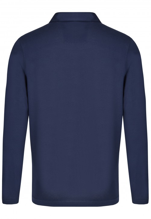 POLO LONGSLEEVE, midnight blue