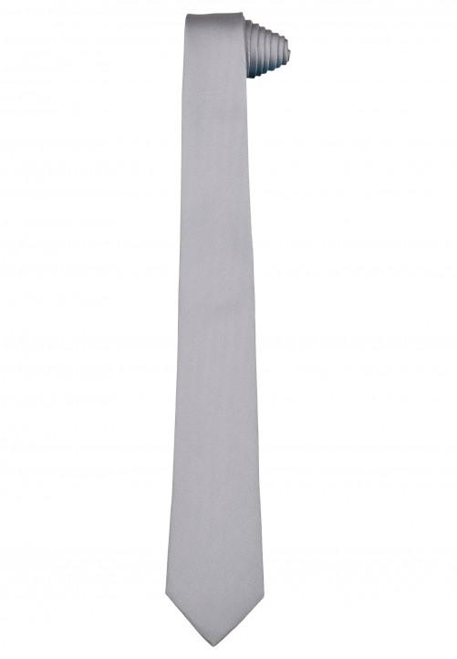 Klassische Krawatte im einfarbigen Design, lightgrey