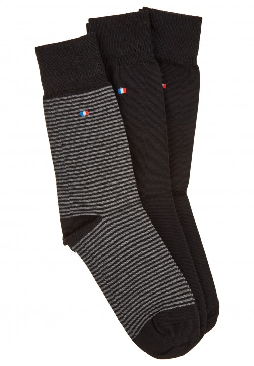 3er Pack Socken in Geschenkbox, black