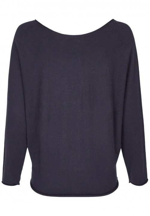 Modischer Pullover, midnight blue