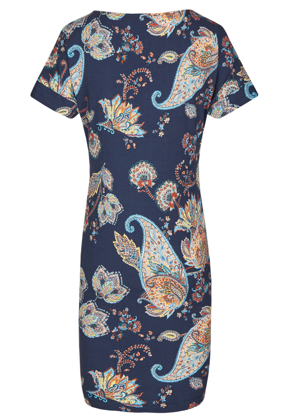 Modisches Kleid mit All-over Paisley-Muster / Jersey Dress