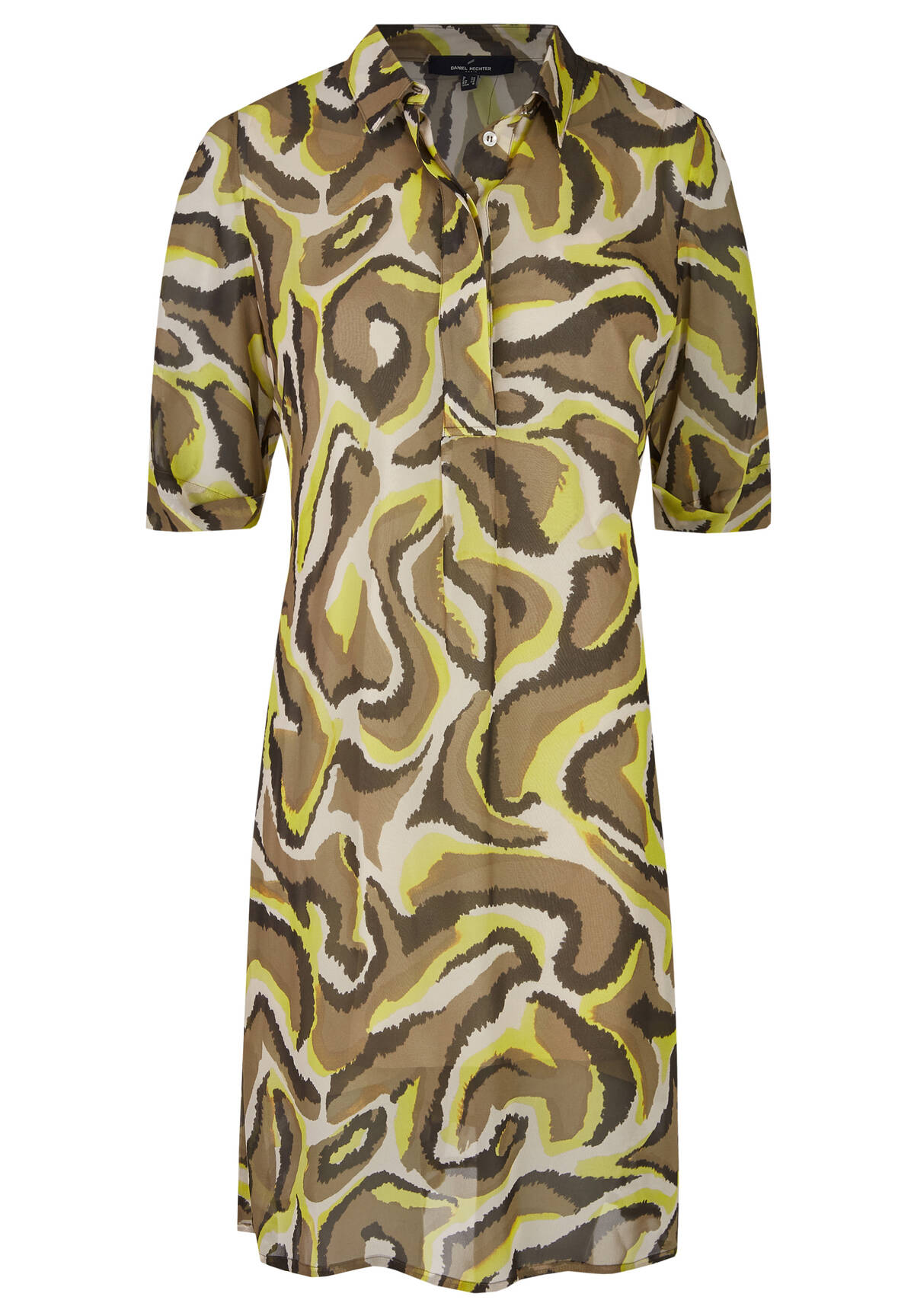 Trendiges Blusenkleid mit Animalprint / Blouse Dress