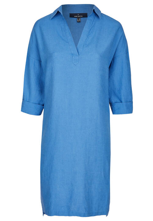 Linen Dress, cornflower blue