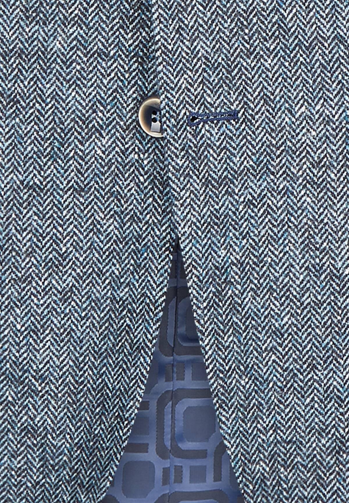 Veste à chevrons en laine /