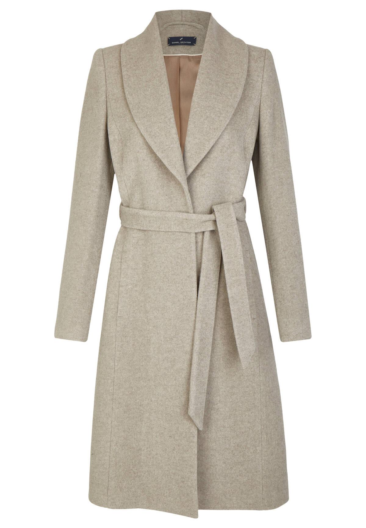 Manteau col châle /