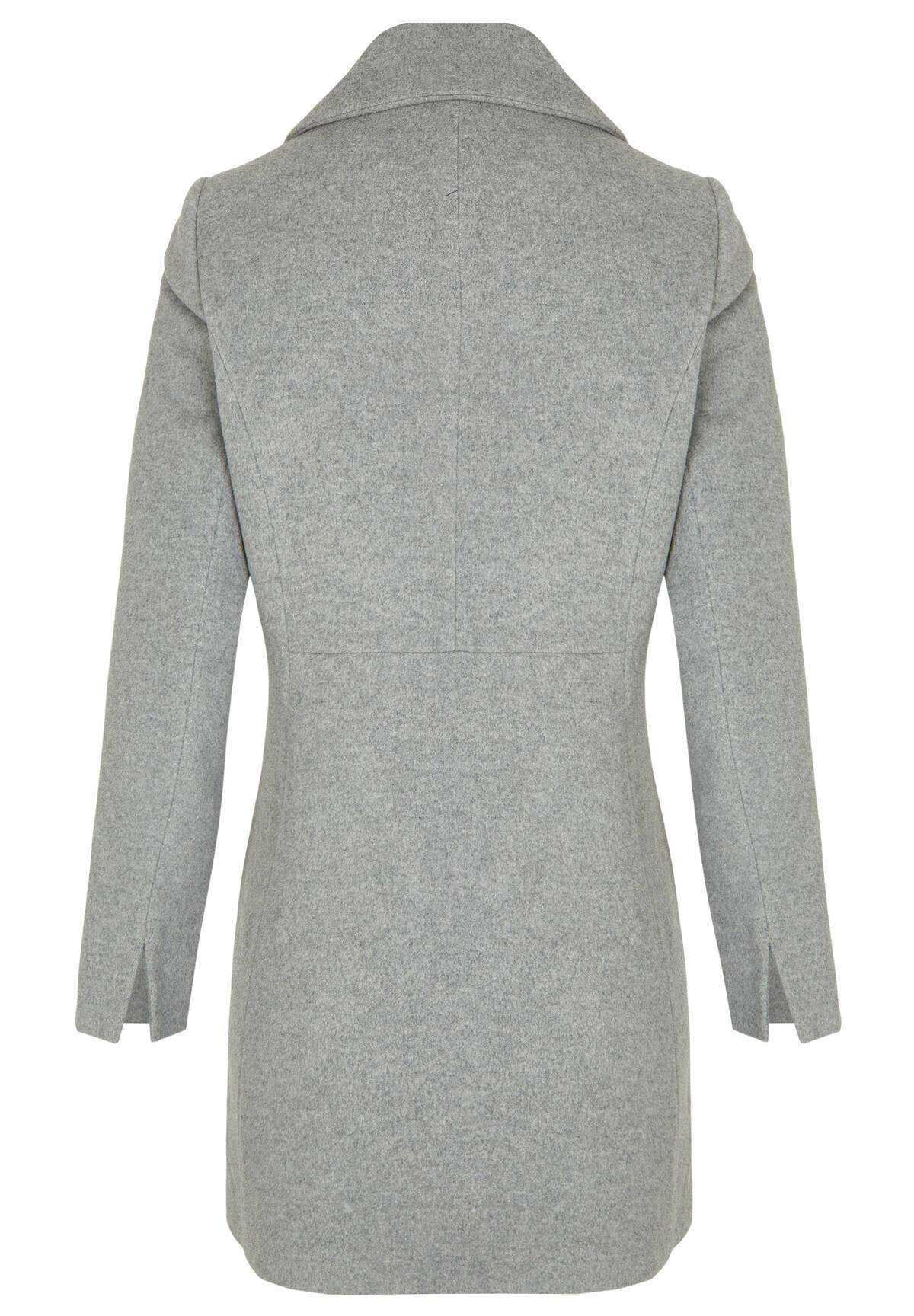 Manteau 3/4, col chemise /