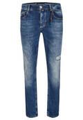 Modern Fit Jeans mit Perlenband
