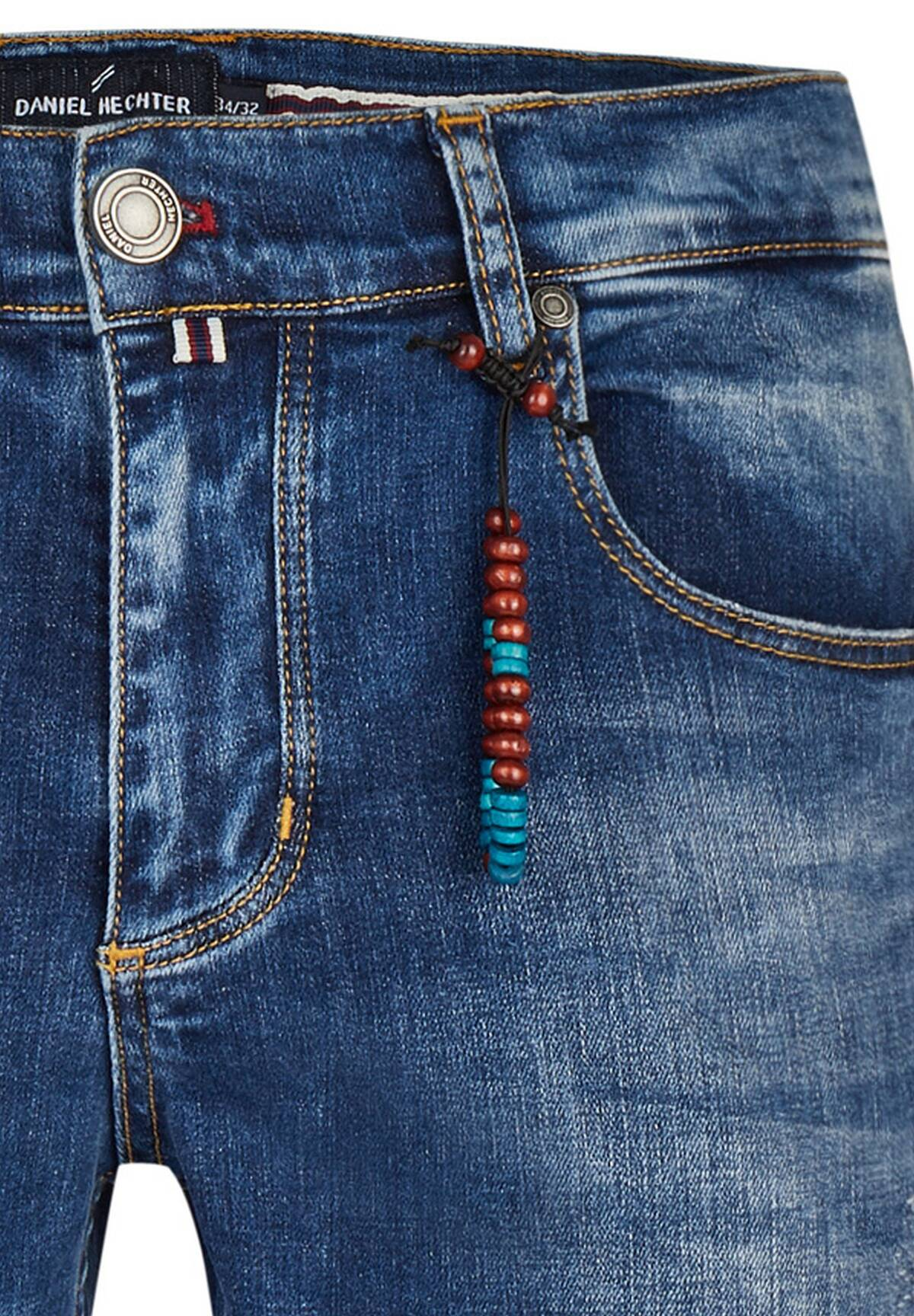 Modern Fit Jeans mit Perlenband / JEANS