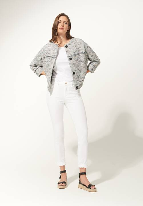 Color Denim, white