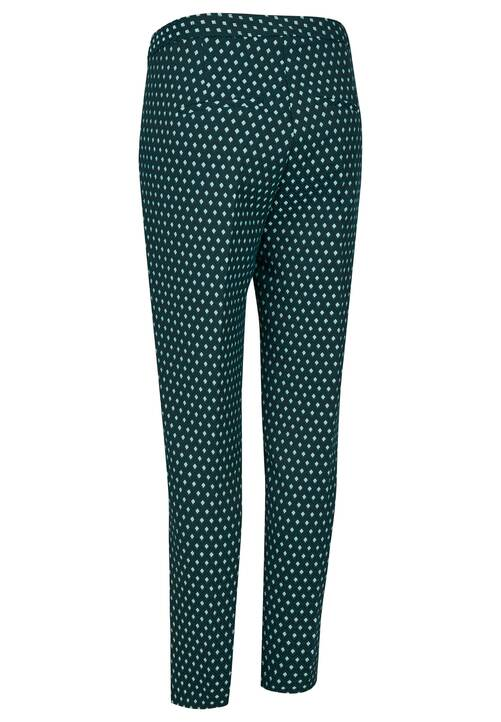 Jacquard Pants, dark green