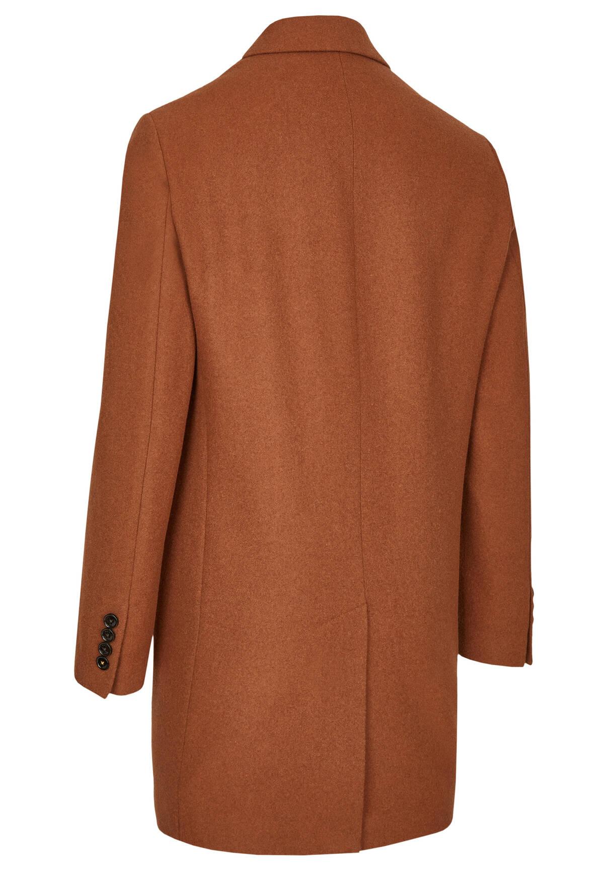 Manteau cintré en laine /