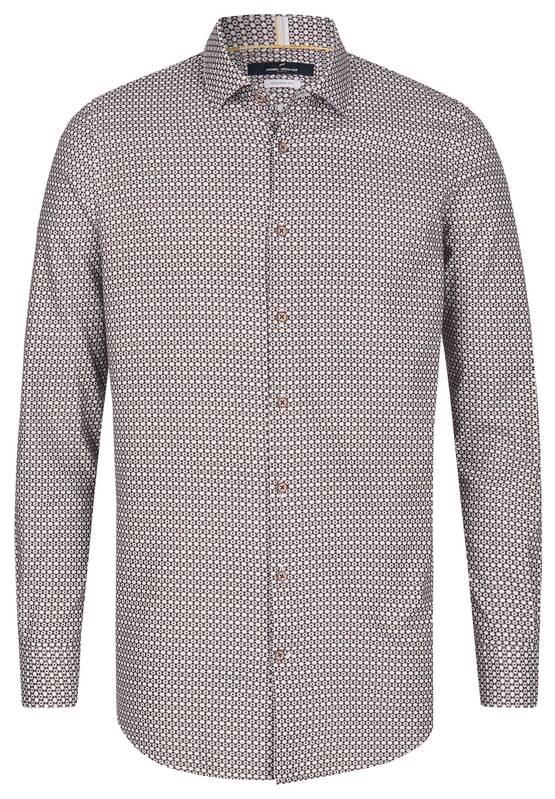 Artikel klicken und genauer betrachten! - Dieses Semidress Hemd aus 100% Cotton mit seinem trendigen all-over Muster lässt sich perfekt zu allen Casual Looks kombinieren, ist aber auch ein stylisher Begleiter für alle Ihre Business Termine. Modell: DAH-60203-102519   im Online Shop kaufen