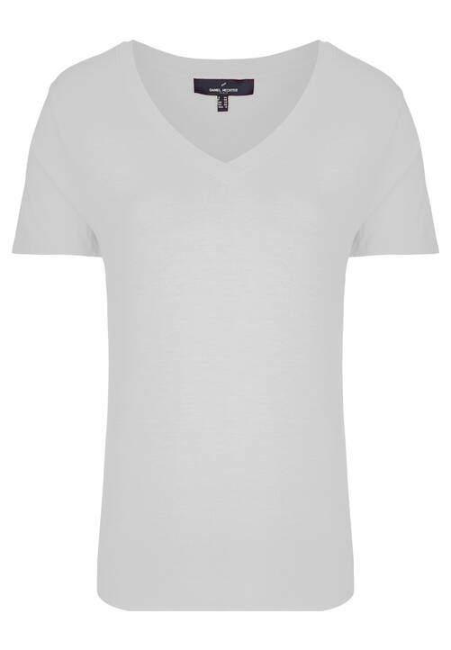 V-Neck Shirt, wei