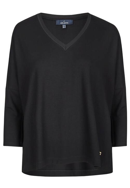 V-Neck Shirt, black