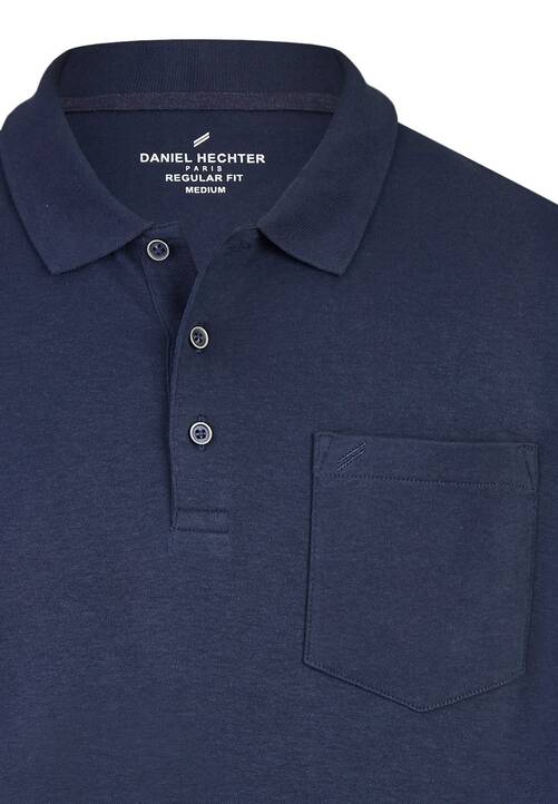 POLO JERSEY LS, midnight blue