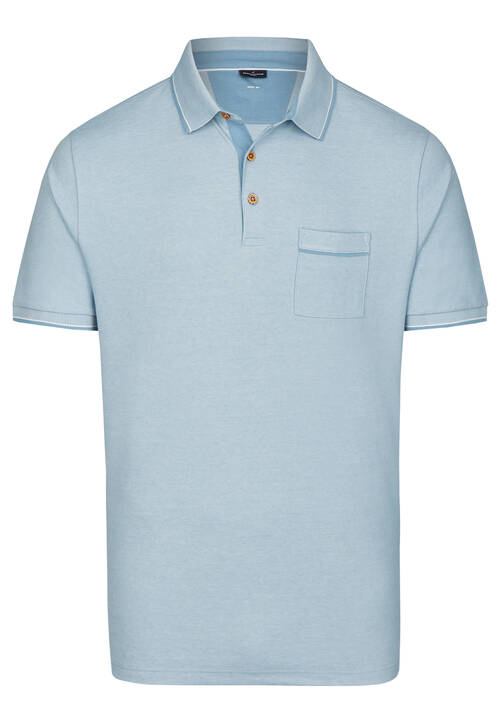 POLO PIQUEE, steel blue
