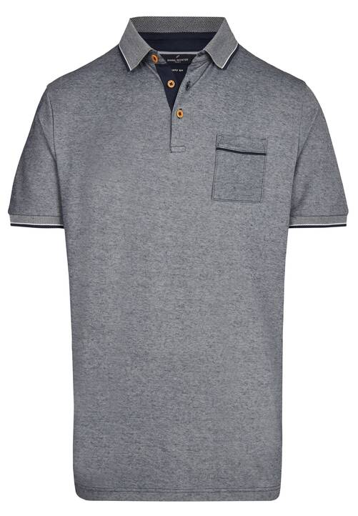 POLO PIQUEE, midnight blue